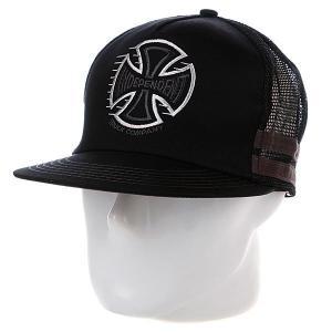 Бейсболка с сеткой  Tc Speed Trucker Black Independent. Цвет: черный
