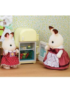 Набор Мама кролик и холодильник Sylvanian Families. Цвет: бежевый, красный