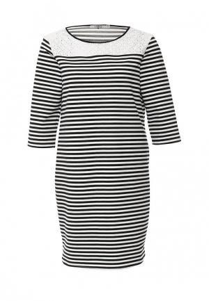 Платье UNQ. Цвет: черно-белый