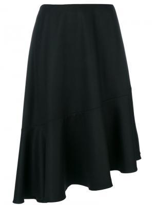Асимметричная юбка Carven. Цвет: чёрный
