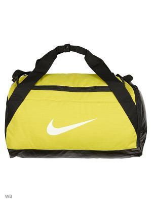 Сумка NK BRSLA S DUFF Nike. Цвет: черный, желтый