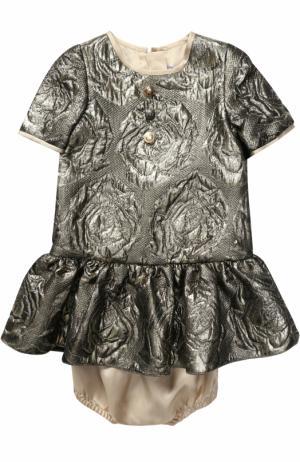 Комплект из мини-платья и трусов Dolce & Gabbana. Цвет: золотой