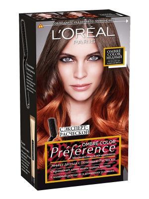 Стойкая краска для волос Preference Color Ombres, № 7.4 Медный L'Oreal Paris. Цвет: коричневый