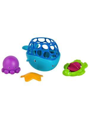 Игрушки для ванны Морские друзья Oball. Цвет: голубой, салатовый, фиолетовый