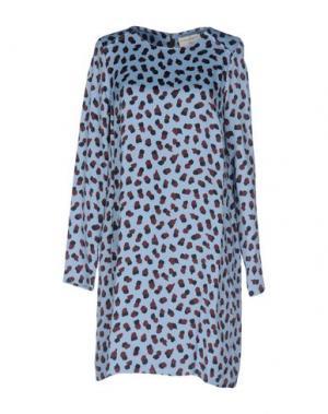 Короткое платье SONIA DE NISCO. Цвет: небесно-голубой