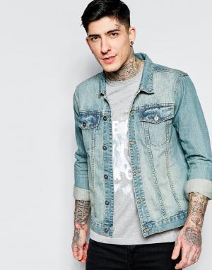 Dead Vintage Голубая джинсовая куртка. Цвет: синий