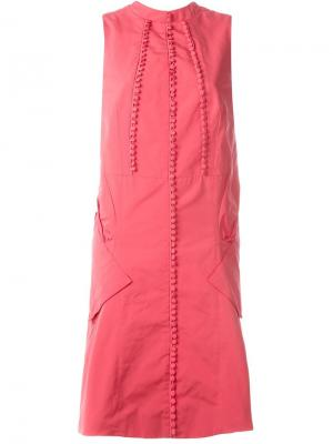 Платье без рукавов Antonio Berardi. Цвет: красный