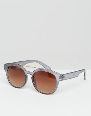 Jeepers Peepers Круглые солнцезащитные очки. Цвет: прозрачный