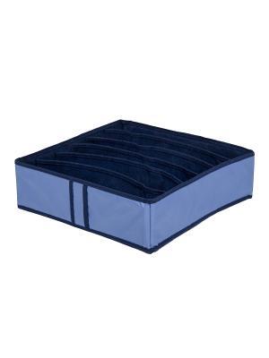 Органайзер для бюстгальтеров на 6 ячеек Blue sky Homsu. Цвет: синий