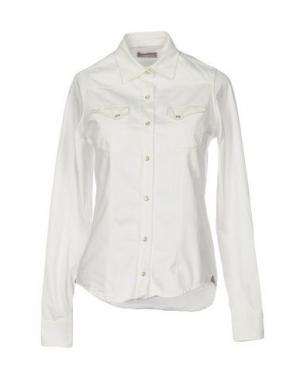 Джинсовая рубашка MACCHIA J. Цвет: белый