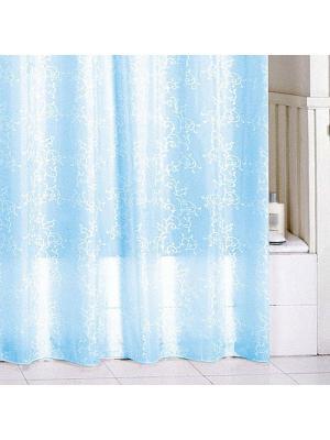 Штора для ванной Milardo. Цвет: голубой