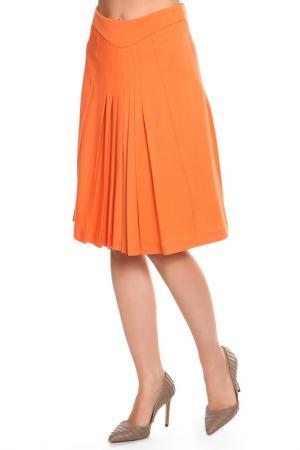 Юбка BGN. Цвет: оранжевый