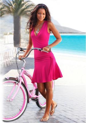 Пляжное платье BEACH TIME. Цвет: зелено-синий, королевский синий, черный, ярко-розовый