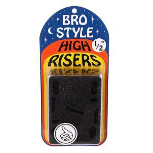 Подкладки для скейтборда  1/2 High Risers Bro Style. Цвет: черный