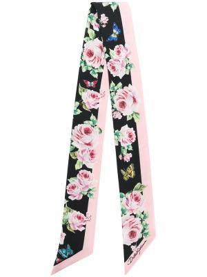 Шейный платок с цветочным принтом Dolce & Gabbana. Цвет: многоцветный