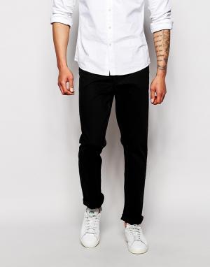Farah Эластичные джинсы слим. Цвет: черный