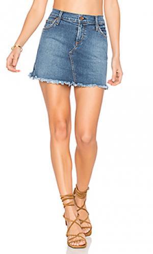 Обрезанная мини юбка mia James Jeans. Цвет: none
