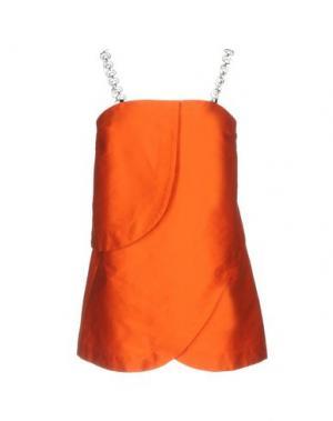 Короткое платье ISA ARFEN. Цвет: оранжевый
