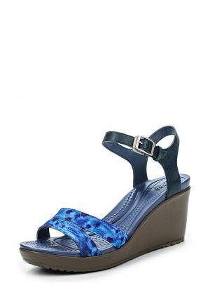 Босоножки Crocs. Цвет: синий