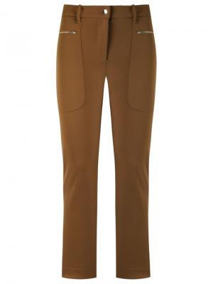 Side pockets trousers Gloria Coelho. Цвет: коричневый