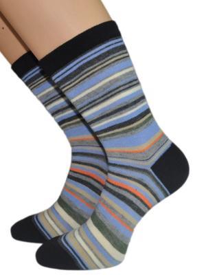 Носки HOBBY LINE. Цвет: черный, синий, оранжевый