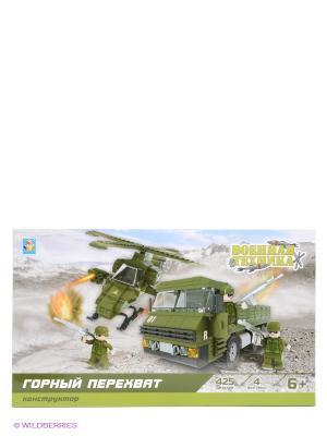 Конструктор Военная техника - Горный перехват 1Toy. Цвет: зеленый, черный