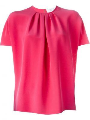 Плиссированная блузка с рукавами летучая мышь Gianluca Capannolo. Цвет: розовый и фиолетовый