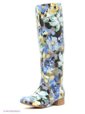 Сапоги Vitacci. Цвет: синий, желтый