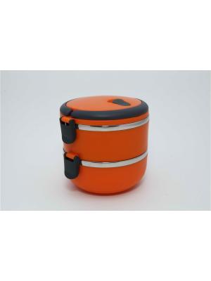 Ланч-бокс 14см, 2 отделения, 1,4л Vetta. Цвет: оранжевый