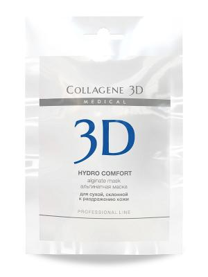 Альгинатная маска Hydro Comfort 30 г Medical Collagene 3D. Цвет: белый, синий