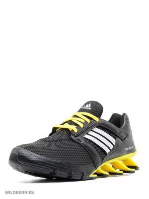 Кроссовки springblade e-force Adidas. Цвет: черный, желтый, белый
