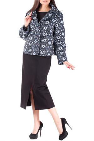 Комплект с юбкой Mannon. Цвет: черно-голубой