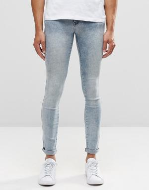 Dr Denim Голубые супероблегающие джинсы Kissy. Цвет: синий