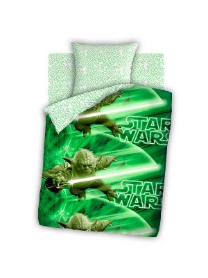 Постельное белье Star Wars. Цвет: зеленый