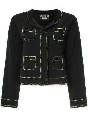 Пиджак с заклепками Boutique Moschino. Цвет: none