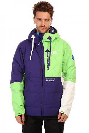 Куртка  Respect Jkt Purple/Green Picture Organic. Цвет: фиолетовый,зеленый,белый