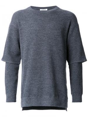Многослойный пуловер monkey time. Цвет: серый