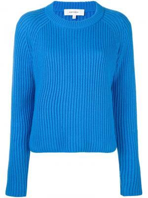 Пуловер с рукавами реглан Carven. Цвет: синий