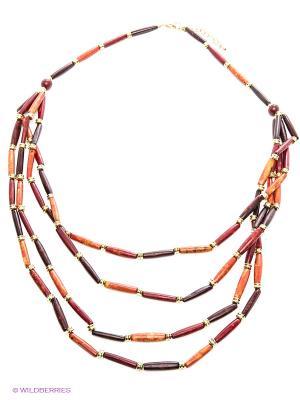 Ожерелье ГАНГ. Цвет: оранжевый