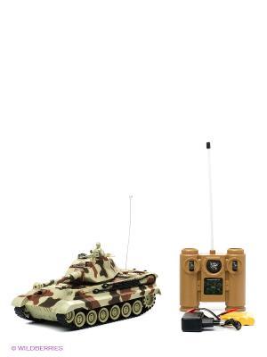 Танк Пламенный мотор. Цвет: светло-зеленый, коричневый, темно-коричневый