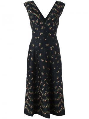 Платье с V-образным вырезом Philosophy Di Lorenzo Serafini. Цвет: чёрный