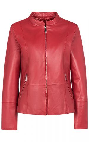 Красная кожаная куртка Le monique