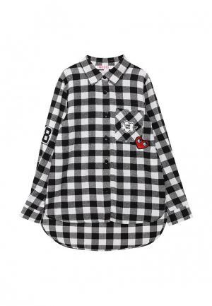 Рубашка Modis. Цвет: черно-белый