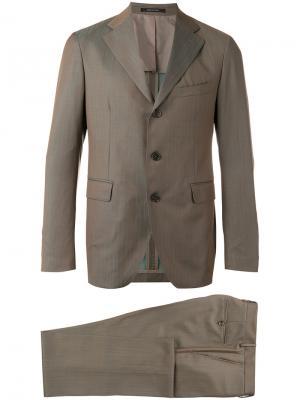Классический костюм Tagliatore. Цвет: зелёный