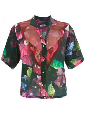 Рубашка с принтом Isolda. Цвет: розовый и фиолетовый