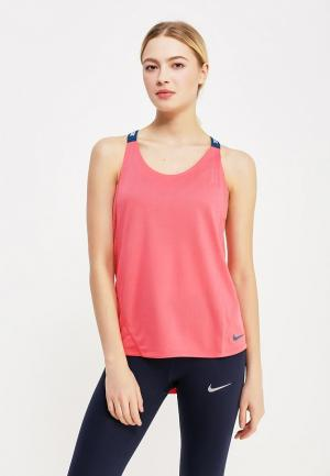Майка спортивная Nike. Цвет: коралловый
