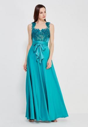 Платье Seam. Цвет: бирюзовый