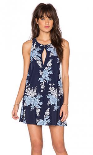Платье с юбкой-солнце lexington Privacy Please. Цвет: синий