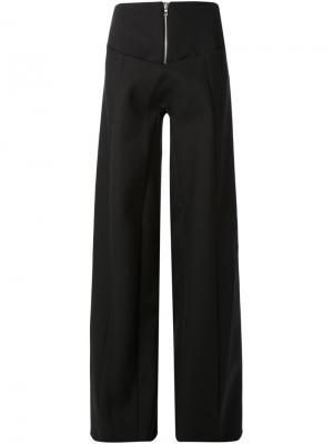 Широкие брюки Thomas Tait. Цвет: чёрный