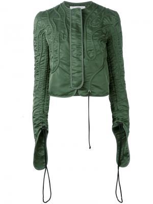 Куртка с присборенными рукавами JW Anderson. Цвет: зелёный